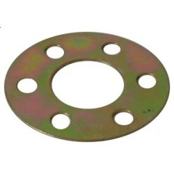 Safety plate for flywheel screws crankshaft