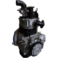 Remanufactured engine block with cylinder head, complete